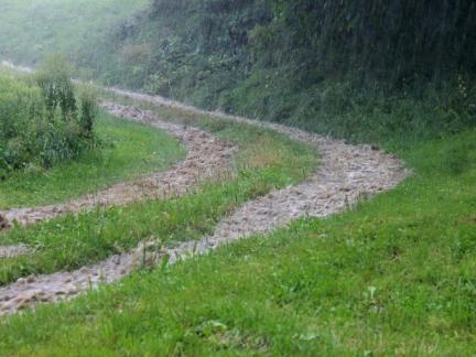 Ende Juli: kleine Überschwemmung